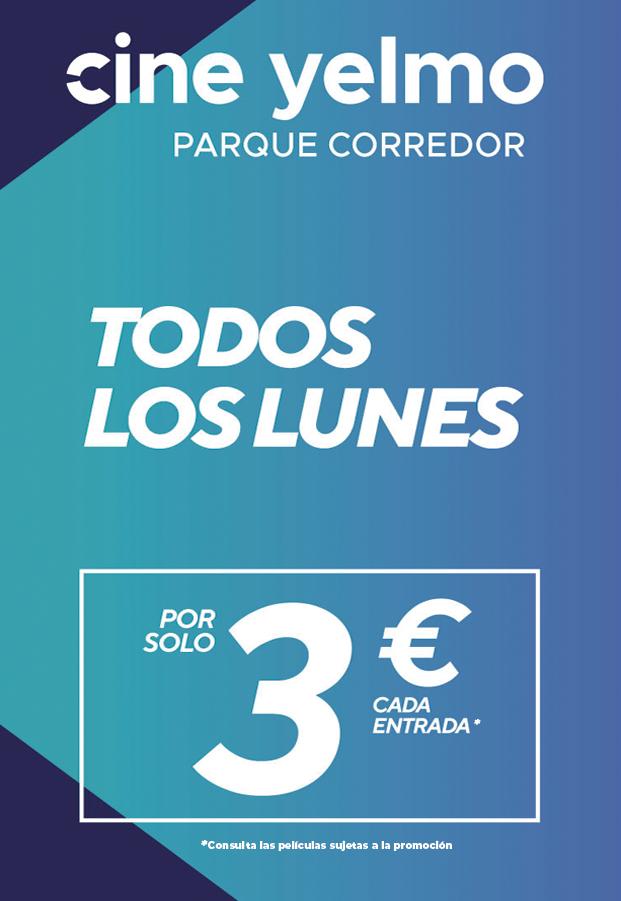 Lunes 3 euros Parque Corredor